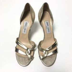 Jimmy Choo Gold Metallic Heels - sz 38.5